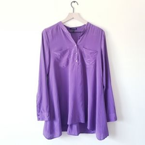 Eileen Fisher Silk Button Front Blouse